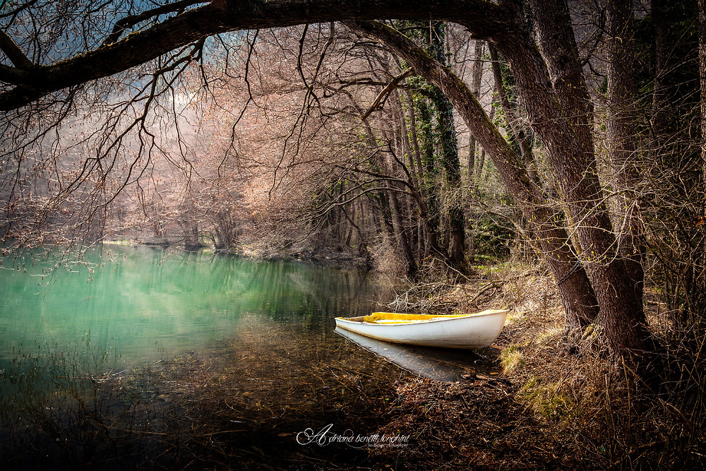 Lake Levico boat tranquil