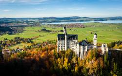 Panoramic view Neuschwanstein castle