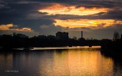 River Main sunset, Frankfurt