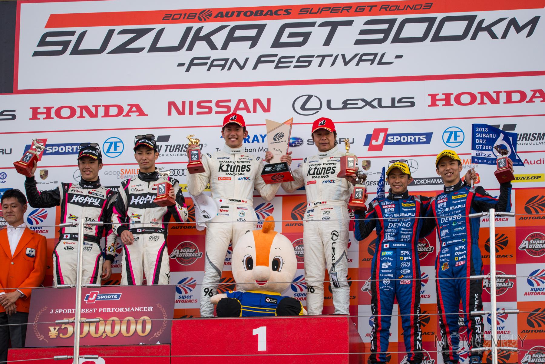 Suzuka GT 300 Km - Super GT. podium
