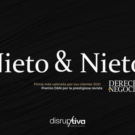 """Disruptiva felicita a Nieto&Nieto por obtener el galardón """"Firma más valorada por sus clientes 2021"""""""