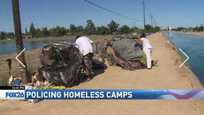 FID & Fresno Police Patrol Canal Banks for Homeless Activity