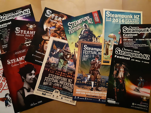 Steamipunk Poster Collection 2010-2019