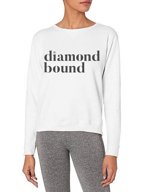 """""""Diamond Bound"""" Sweatshirt White/Gray"""