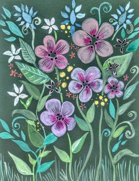 Green Fields of Flowers by Lori Perez