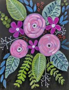 Bold Pink Flowers by Lori Perez