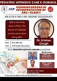 Pediatric Intensive Care e-Gurukul: Common Errors in Interpretation of ABG – Class 1