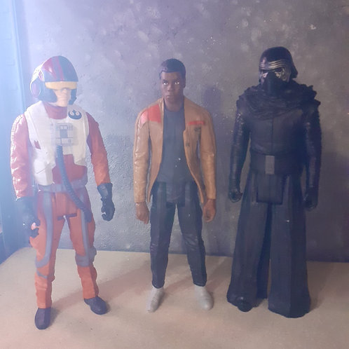 LOT 3 PERSONNAGES STAR WARS
