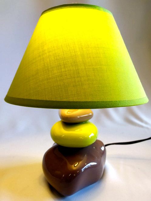 "Lampe Pierres ""marron/verte"""