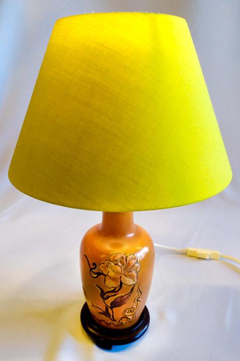 "Lampe chinoise ""fleurs"""