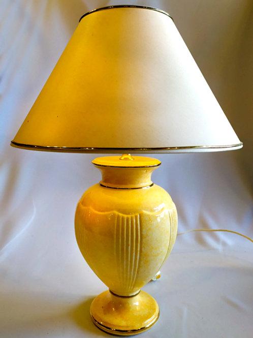 GRANDE LAMPE  (rose / dorure)