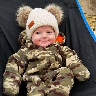 Avalee's first elk hunting trip at 6months old!