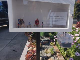 Grand Opening: Little Free Art Gallery, California!