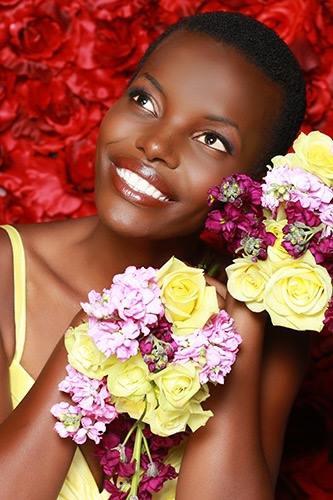 Miss Tanzania 2017 Lilian Ericaah Photo By Georgina Vaughan Makeup By DeLaney  Hair by Chi Hair Care