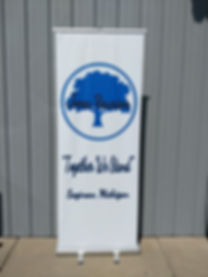 Custom Free Standing Banner