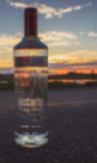 Custom laser engraved bottle with beautiful sunset
