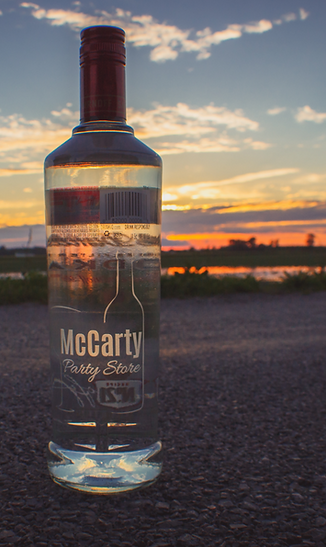 Custom laser engraved bottle with beautiful sunset