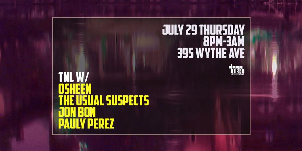 Thursday Night Live @ TBA w/ Osheen, The Usual Suspects, Jon Bon & Pauly Perez