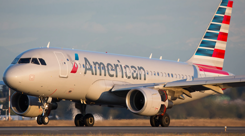 Image of an American Airlines plan on a runway.