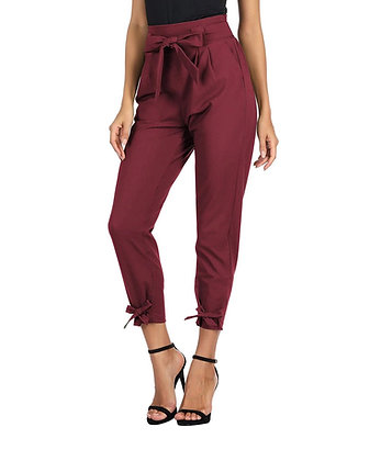 GRACE KARIN Womens Casual High Waist Pencil Pants with Bow-Knot