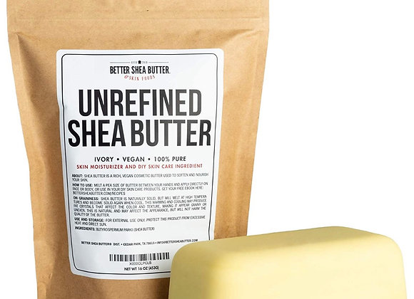 Unrefined African Shea Butter Bar - Raw & Pure
