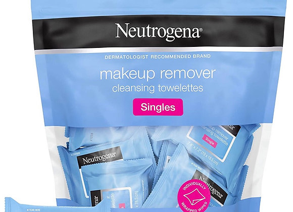 Neutrogena Makeup Remover Facial Cleansing Towelette Singles, Daily Face Wipes t
