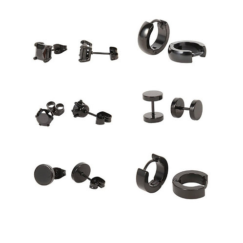 EARRING QUEEN (black stainless steel) collection