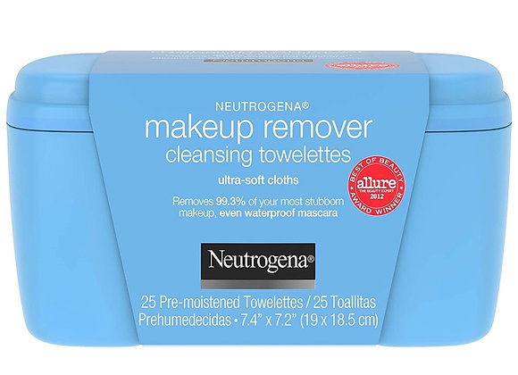 Neutrogena Makeup Remover Facial Cleansing Towelettes, Daily Face Wipes to Remov