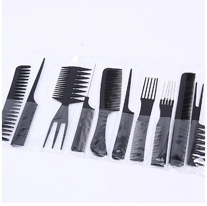 Hair Care Comb Anti Static Coarse Fine Toothed Tail Teasing Waves Pick Combs Set