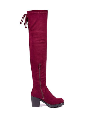 Thigh High Block Heel Over The Knee Boots