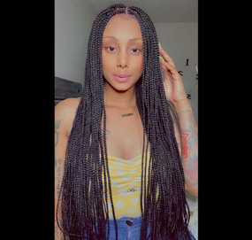 13x4 braided lace front wig