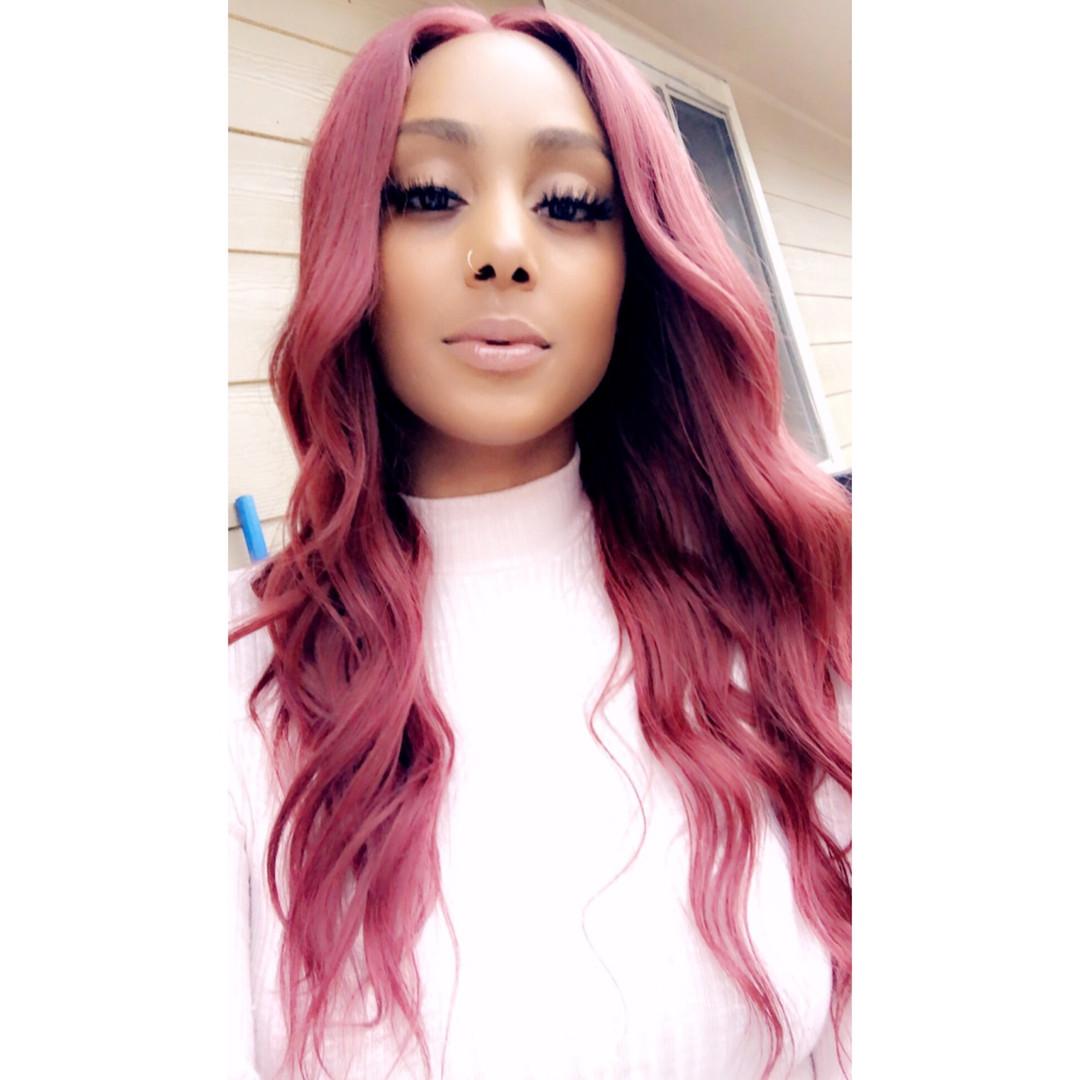 custom red 4x4 closure wig