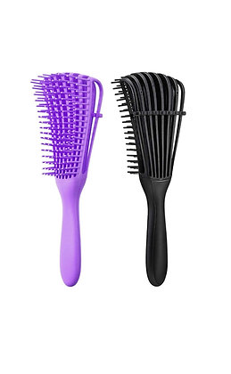2 Pieces Detangling Brush for 3a to 4c Kinky