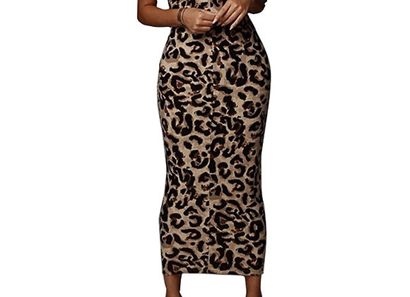 Women's Sexy Asymmetrical Diagonal Spaghetti Strap V Neck Bodycon Dress
