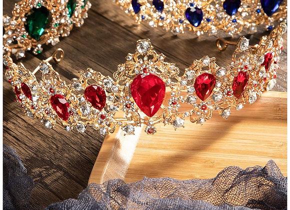 Baroque Vintage Rhinestone Crystal Crown - Tiaras and Crown for Women - Princess