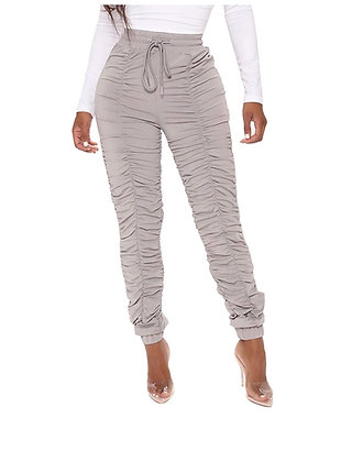 """""""Elegantly Stacked"""" Womens Stacked Leggings Casual High Waist Sweatpants"""
