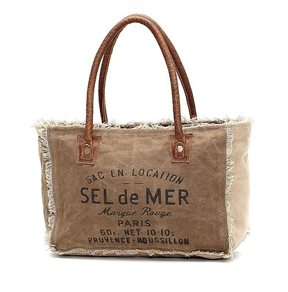 Sel De Mer Upcycled Canvas Hand Bag