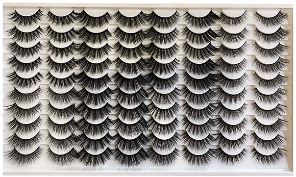 8 Styles Faux Mink Lashes Pack 40 Pairs