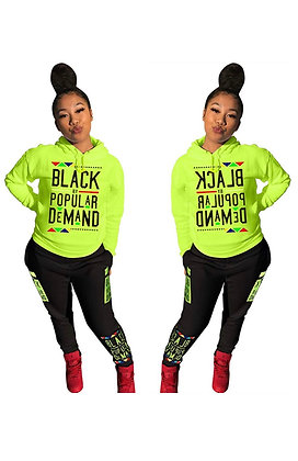 """BLACK by POPULAR DEMAND"" 2 piece tracksuit"