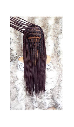 Knotless full lace braid wig