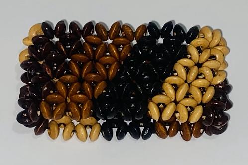 Wooden stretch bracelets
