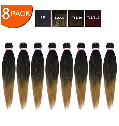 Pre-Stretched Braiding Hair 24 Inch 8 Pack T27 Braids Hair Synthetic Braids Hair