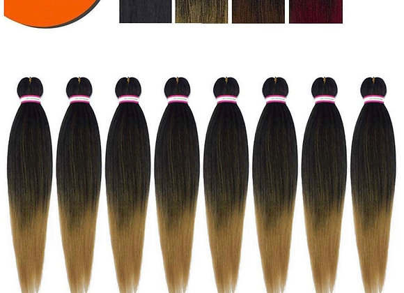 Pre-Stretched Braiding Hair 24 Inch 8 Pack T27 Braids Hair Synthetic Braids Hair