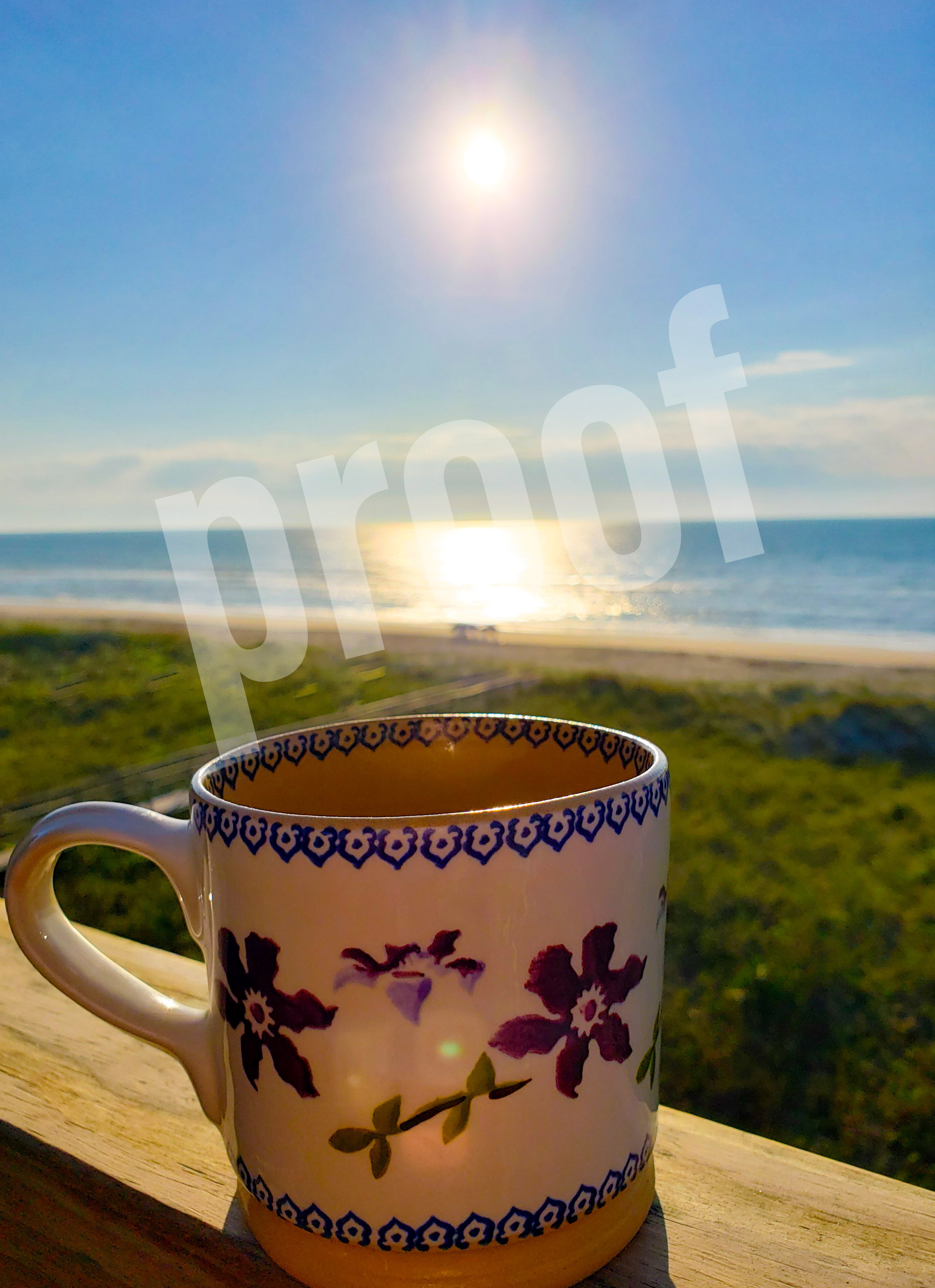 coffee and the beach
