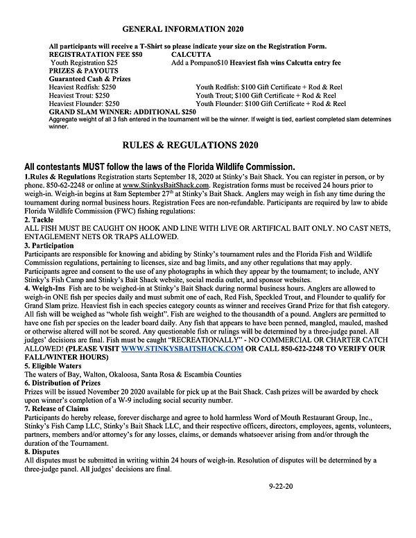 B2B Gen Info, Rules  Hand out 2020 9-22