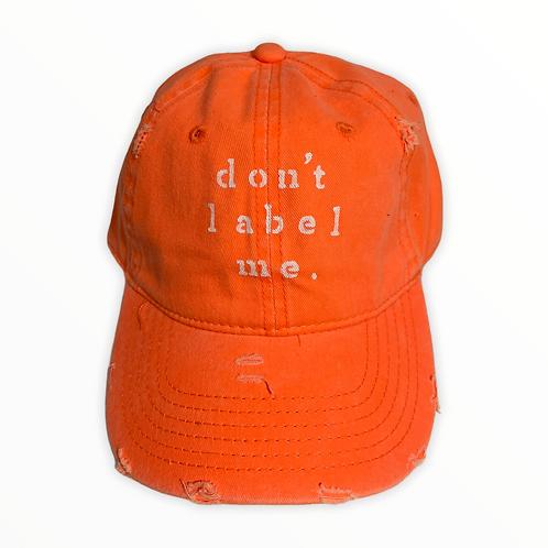 Don't Label Me Baseball Cap