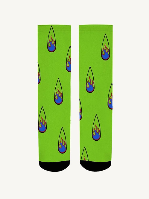 Green Fire Clawset Socks