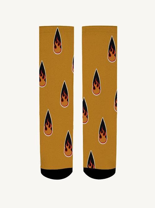 Yellow Fire Clawset Socks