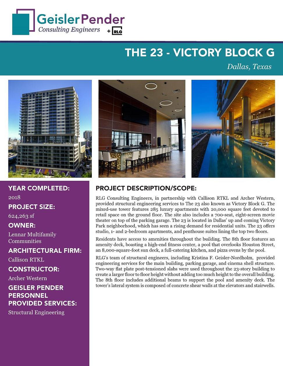 The 23 Victory Park Apartments Block G.j