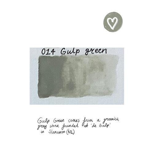 Handmade watercolor paint 'Gulp Green' half pan